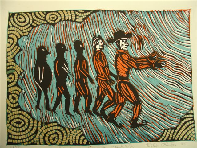 Fighting Cancer Woodblock Prints By Dale Phelps Richard
